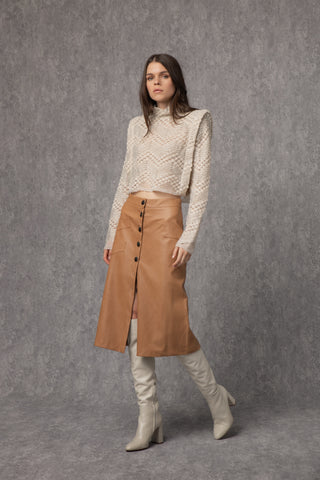 Peggy Knit Beige & Black - top- arpyes