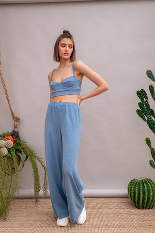 El Vocho Pants Light Blue & Terracotta - pants- arpyes