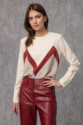 Margaux Red Blouse - Blouse- arpyes