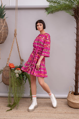 Bay Breeze Dress Magenta - Dress- arpyes