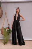 Rasberita Anthracite Black Jumpsuit - Jumpsuit- arpyes
