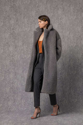 Cher Coat Gray
