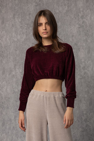 Patti Top Bordeaux & Dark Blue - top- arpyes