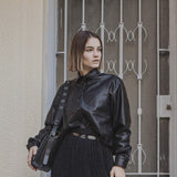Poblana black leathertte - Shirt- arpyes