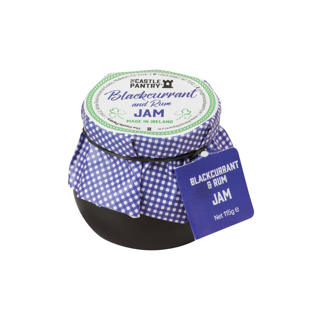 Irish Blackcurrant Jam with Rum 4oz and 8oz