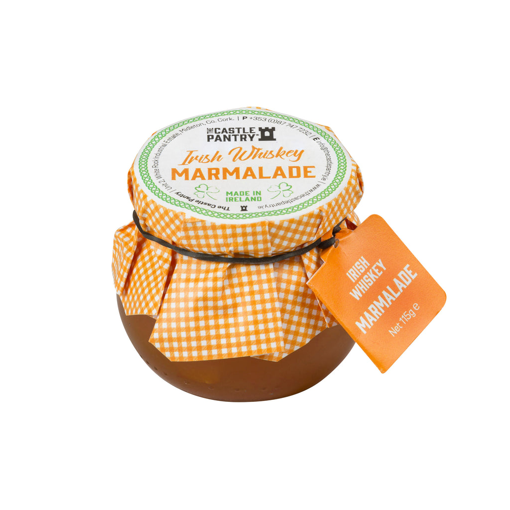 Irish Whiskey Marmalade 4oz and 8oz globe jar