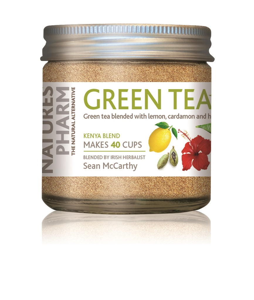 Naturespharm Instant Green tea with lemon, organic cardamom and organic hibiscus 25g