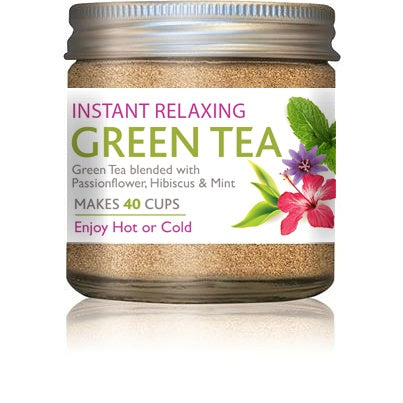 Naturespharm Relaxing Green tea with passionflower extract, organic hibiscus and mint flavour 25g
