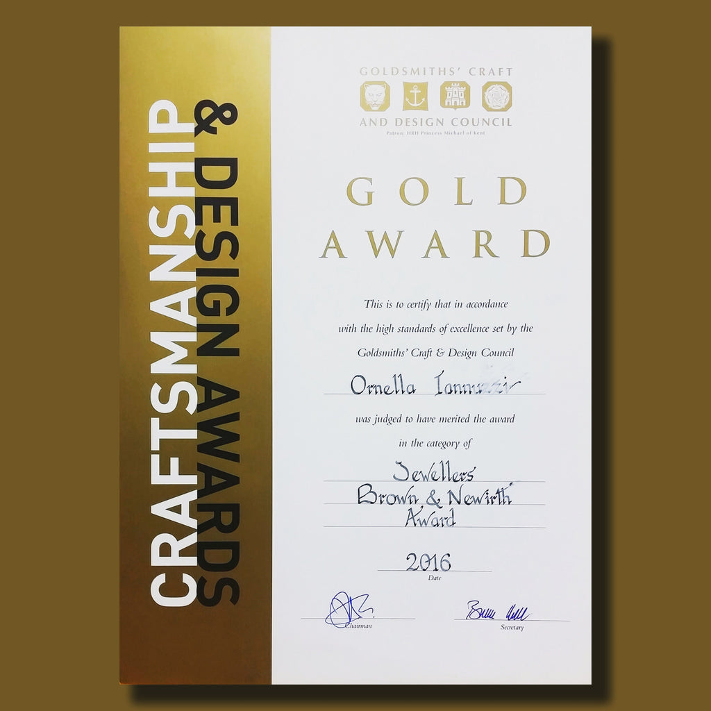 Gold Award at the Goldsmiths' Craft & Design Council Award !!!