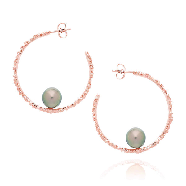 """CORALLINE CIRCLE"" (Small Hoops)"