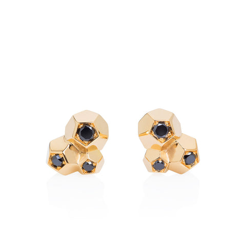 """Rock It !"" 3 Crystals studs"