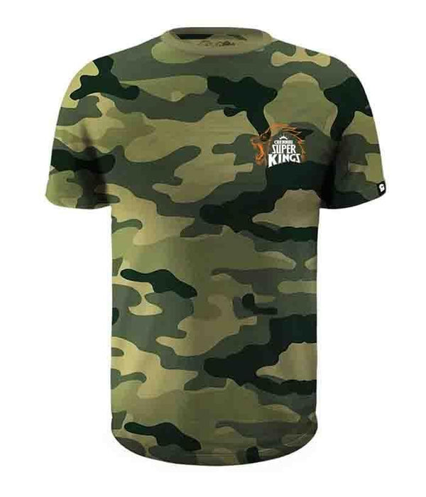 Camouflage - Thala 7 CSK Official T-Shirt - Fully Filmy