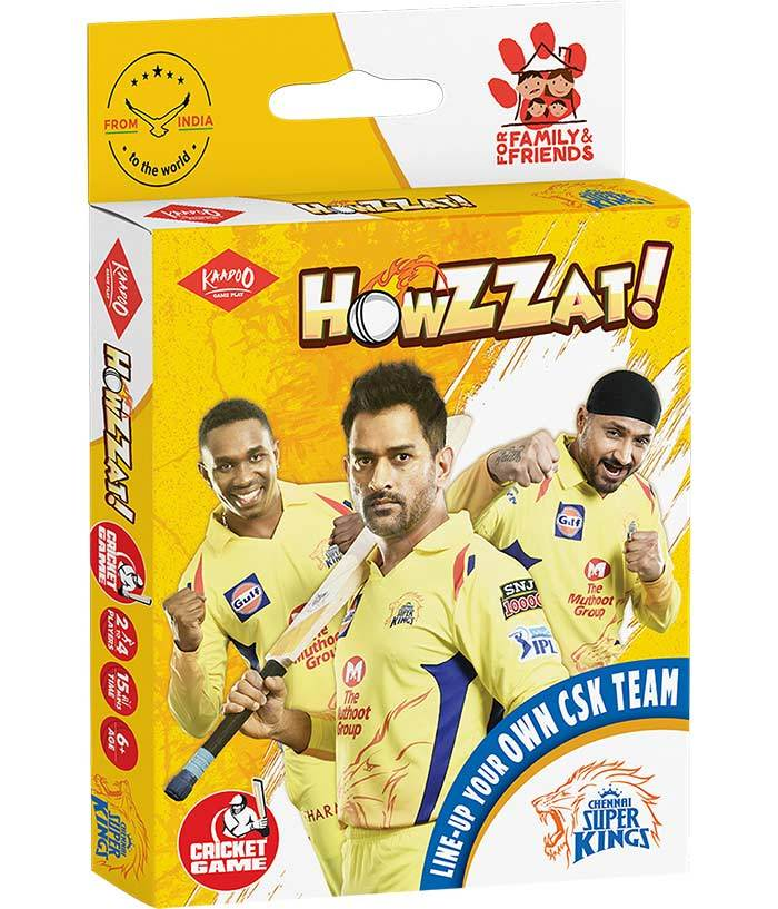 Howzzat!-CSK Cricket Card Game - fully-filmy