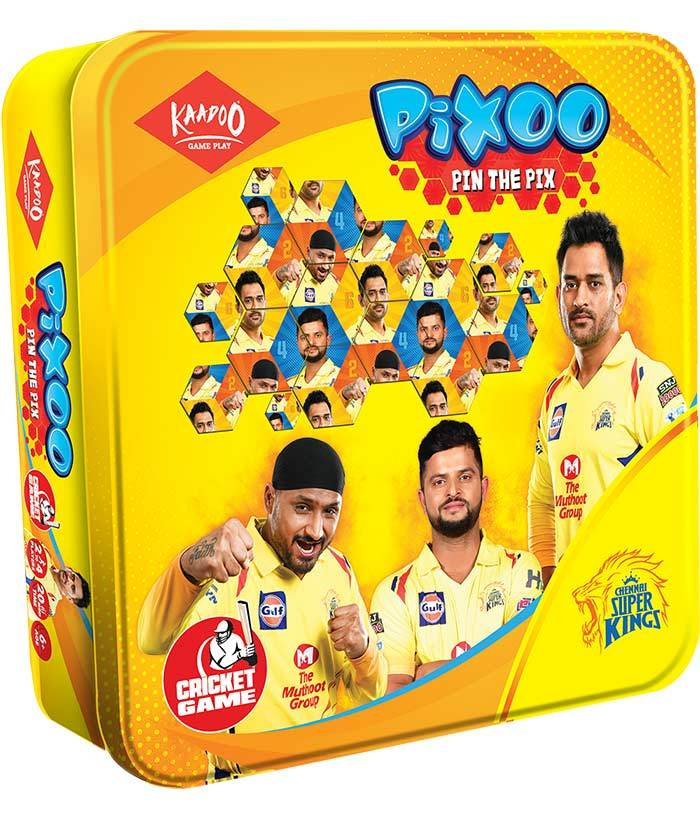Pixoo-CSK-Cricketer Puzzle Game