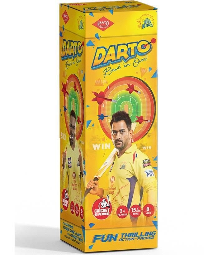 Darto-CSK-Magnetic Dartboard Cricket Game - fully-filmy