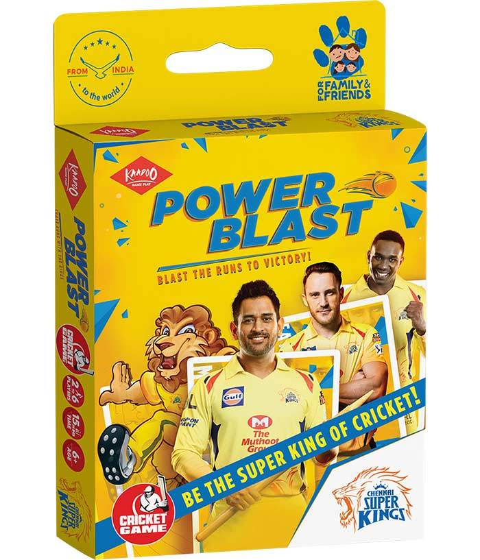 Power Blast-CSK Cricket Card Game - fully-filmy