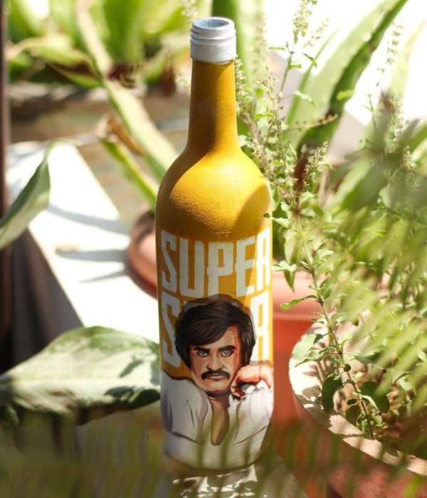 The Super One Decoupage Bottle Art - fully-filmy