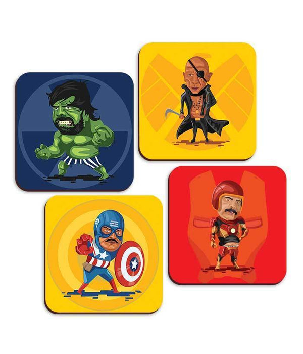 Kollywood Superheroes Coaster Collection - Set Of 4