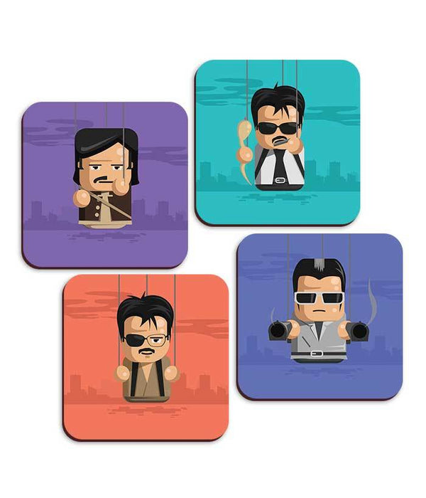 Rajini Puppet Coaster Collection - Set Of 4