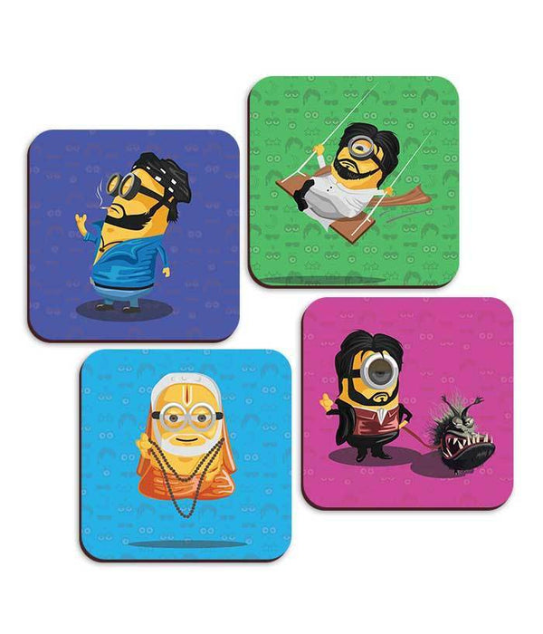 Rajini Minion Coaster Collection - Set Of 4