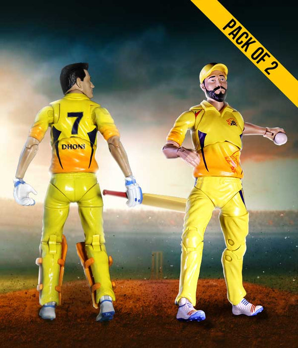 Dhoni-Jadeja Combo Action Figure - CSK Official Merchandise - Fully Filmy