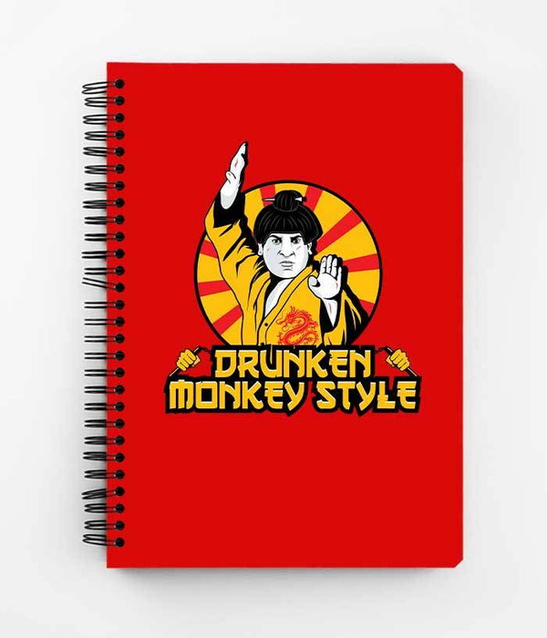 Drunken Monkey Style Spiral Notebook - Fully Filmy