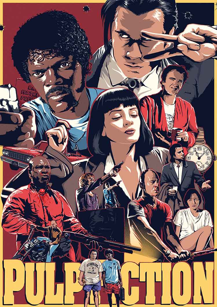 Pulp Fiction Tribute Poster