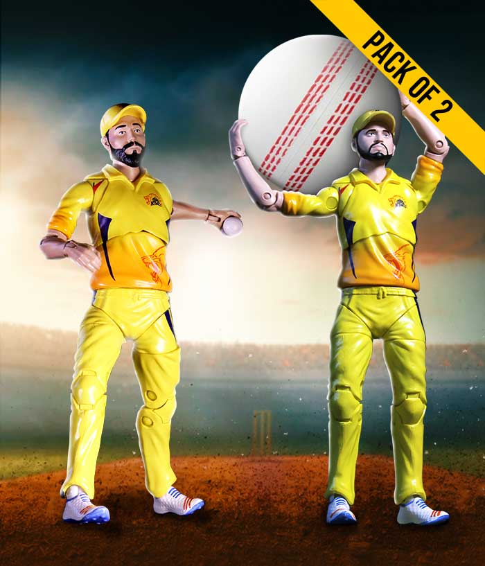 Raina-Jadeja Combo Action Figure - CSK Official Merchandise - fully-filmy