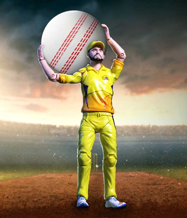 Raina Action Figure - CSK Official Merchandise