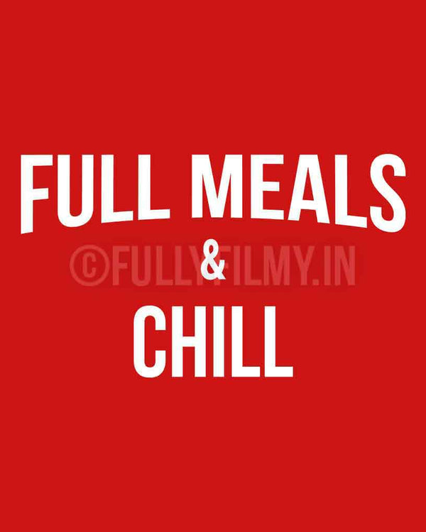 Full meals and Chill T-Shirt - Red