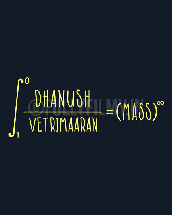 Dhanush Vetrimaaran Equation T-Shirt