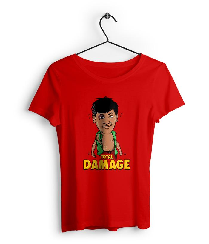 Total Damage - Vadivelu Tribute  Women's T-Shirt - fully-filmy