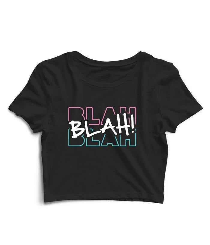 Blah Blah Blah Crop Top - fully-filmy