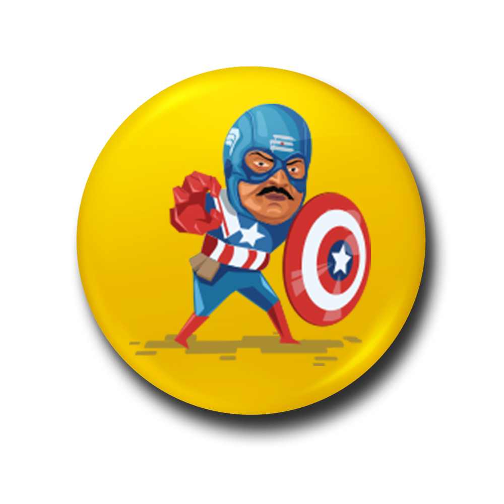 Captain Kollywood Fridge Magnet
