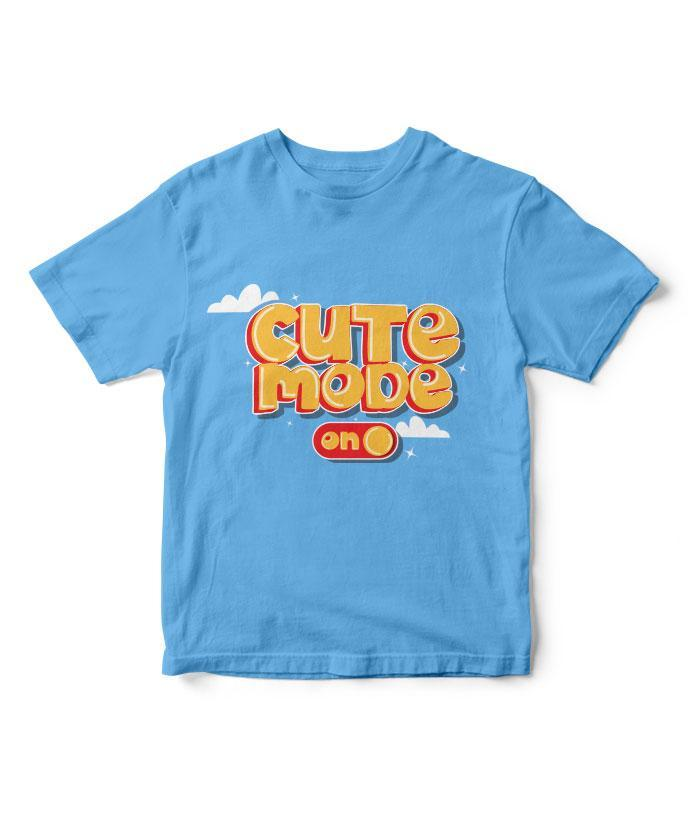 Cute Mode Kids T-Shirt - fully-filmy