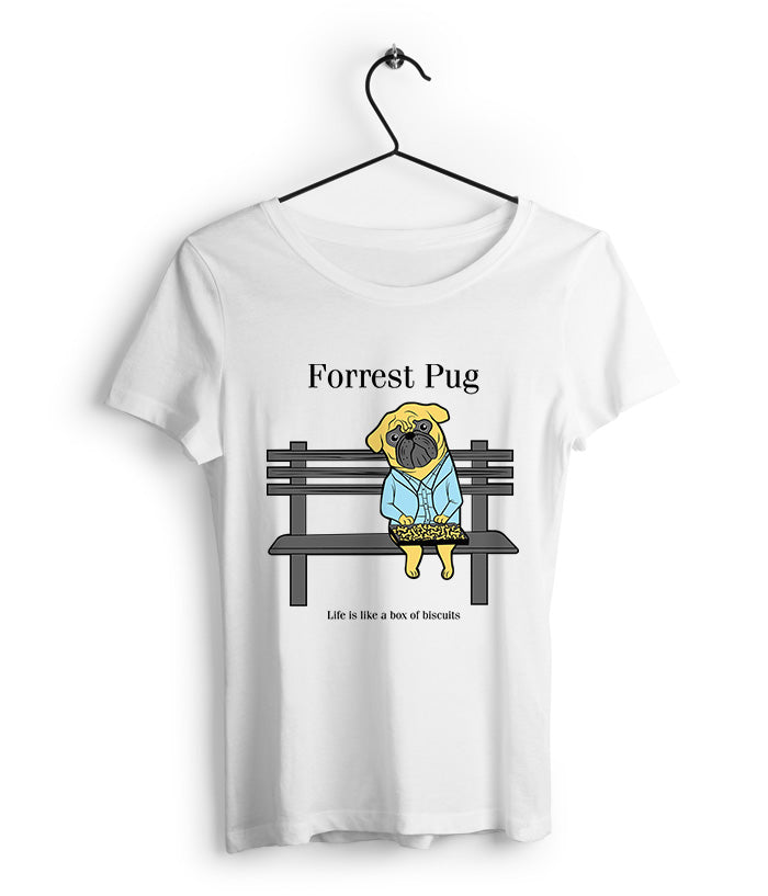 Forrest Pug Women's T-Shirt - fully-filmy