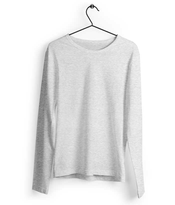 Fully Solid Full Sleeve - Grey T-Shirt - fully-filmy