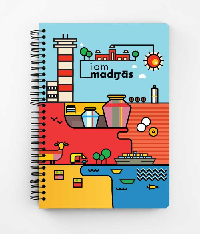 I am Madras Spiral Notebook - fully-filmy