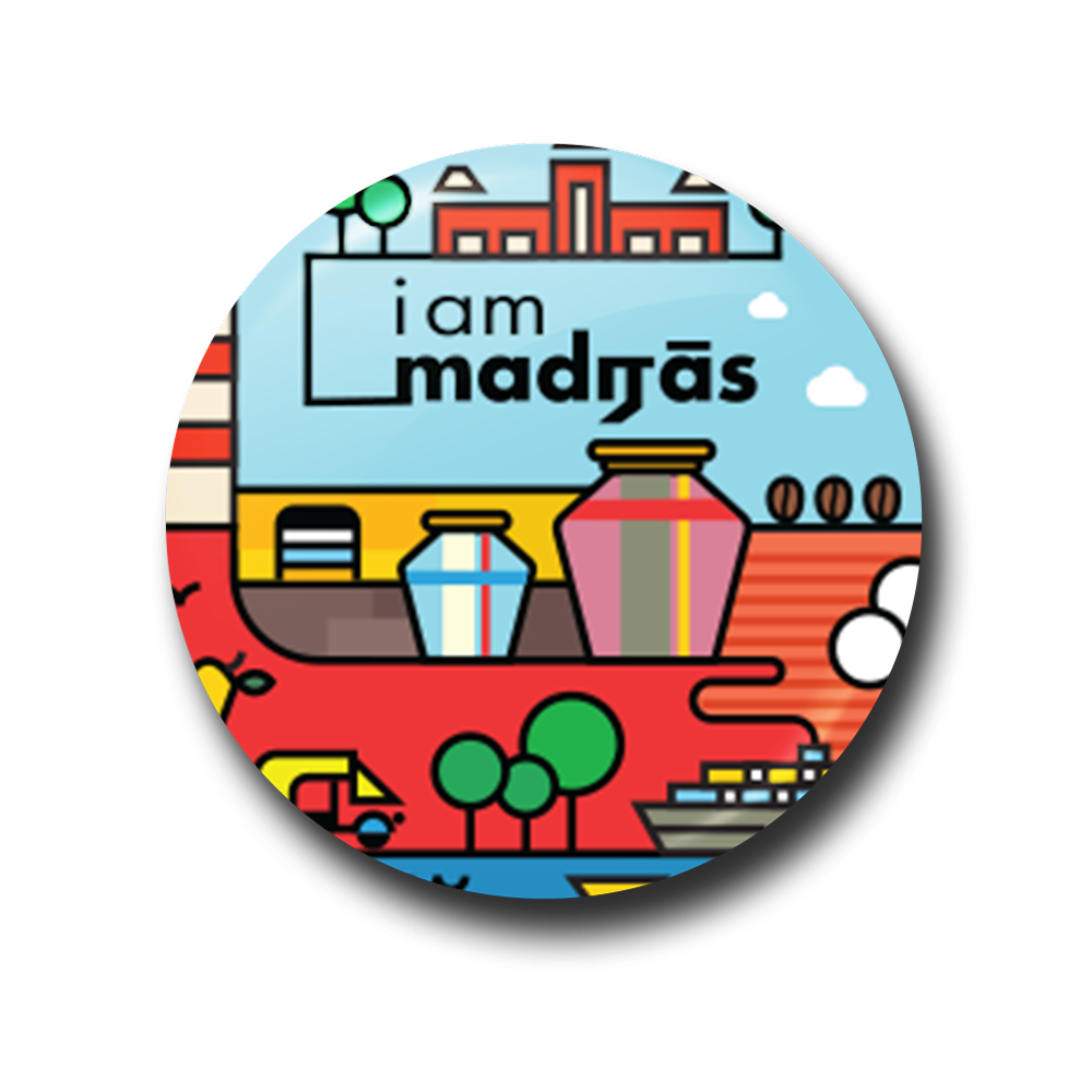 I am Madras - City Edition Fridge Magnet