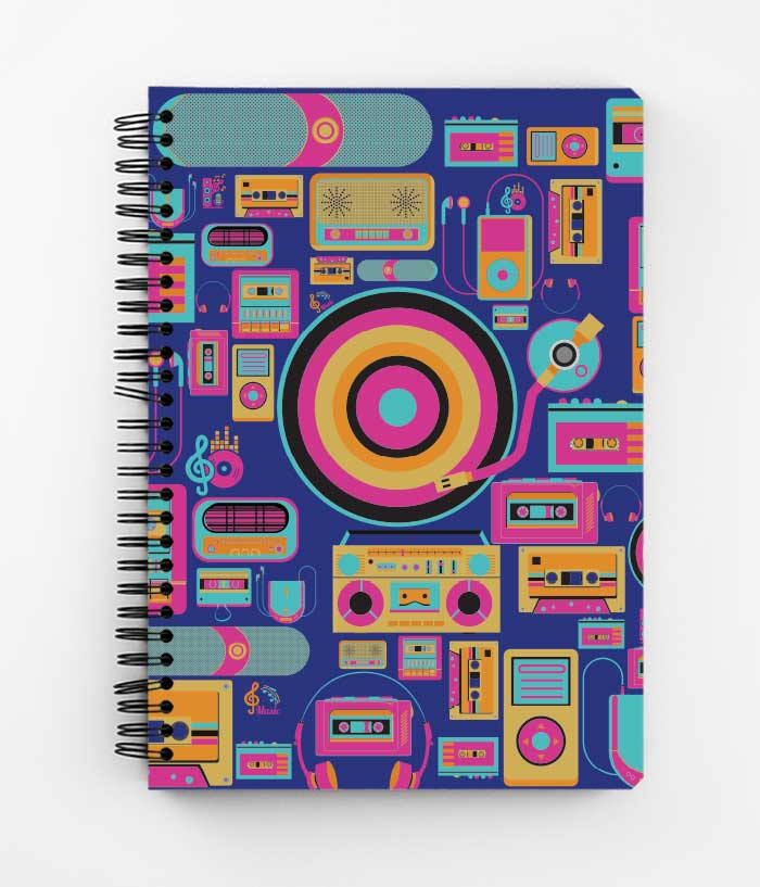 Musically Inclined Spiral Notebook - fully-filmy