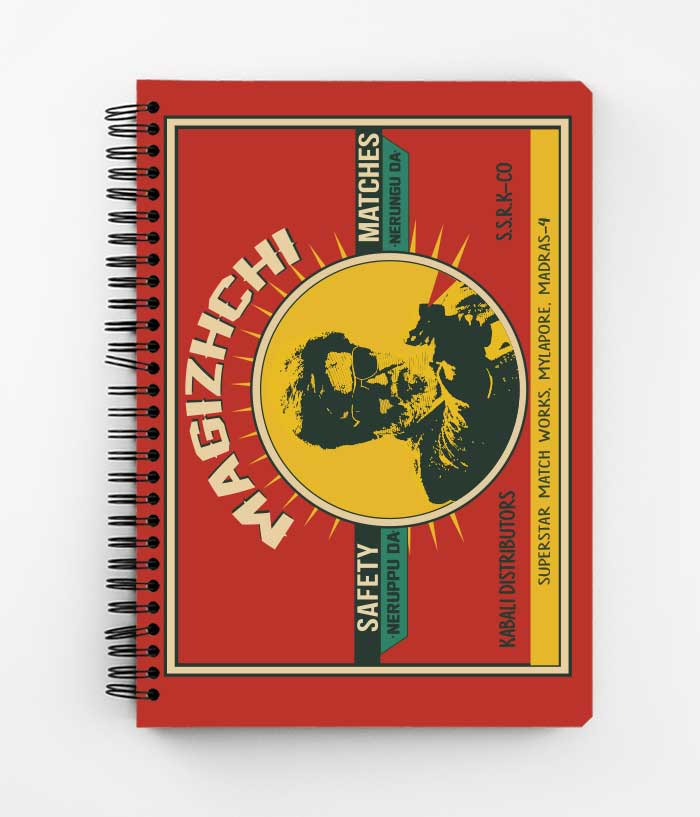 Magizhchi Matches Spiral Notebook - fully-filmy