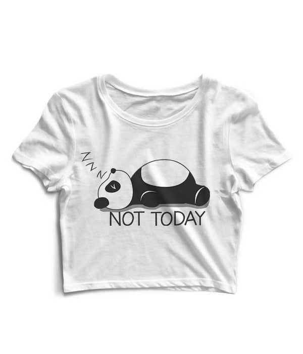 Not Today Crop Top - Fully Filmy