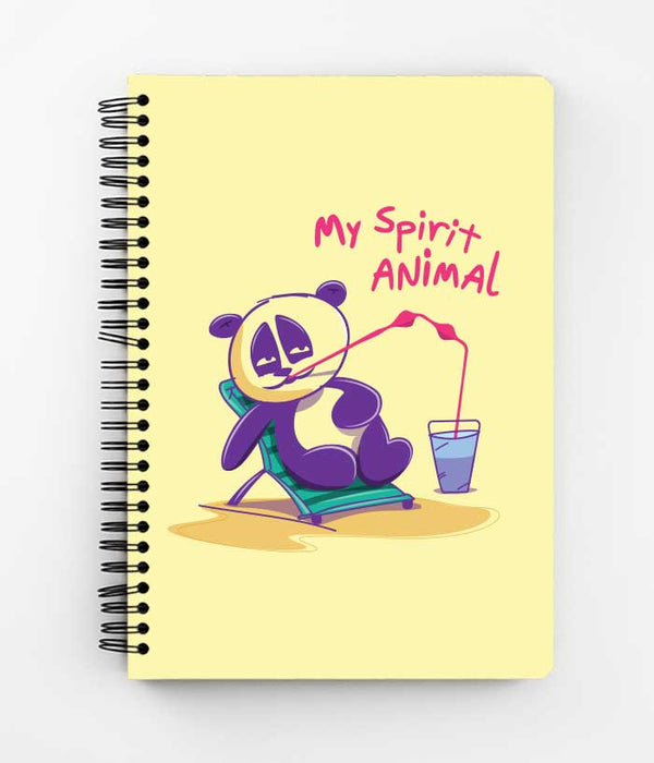 Lazy Panda Spiral Notebook