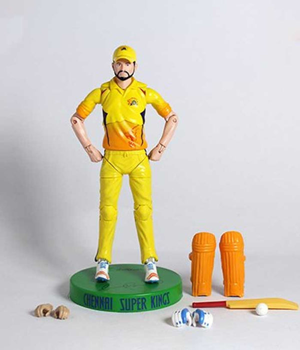 Dhoni-Raina-Jadeja Combo Action Figure - CSK Official Merchandise - Fully Filmy
