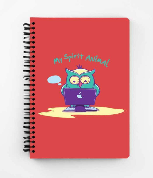 Night Owl Spiral Notebook