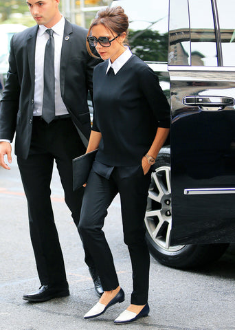 Victoria Beckham Stylish flat shoes for the office