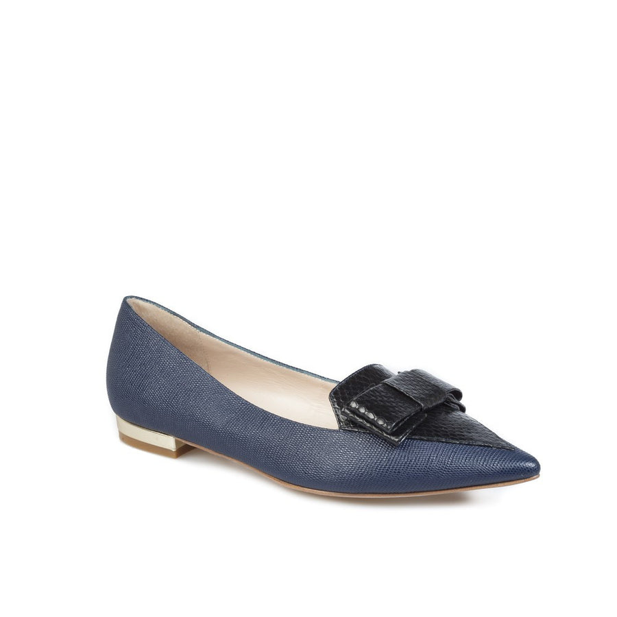 Lucy-Choi-Blur-Navy-Leather-Shoes-Silkarmour