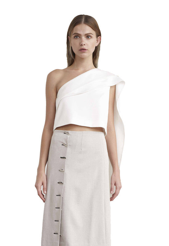 Viktoria Chan- Poppy Folded Cropped Top- Silkarmour-8