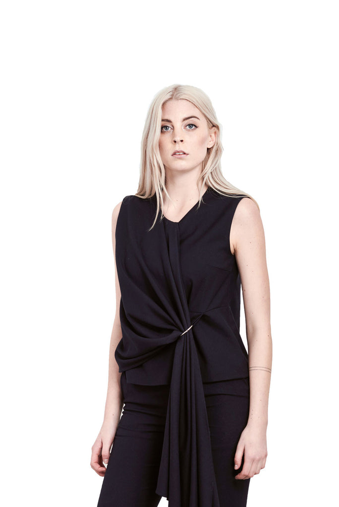 Viktoria Chan- Draped Top- Silkarmour-4