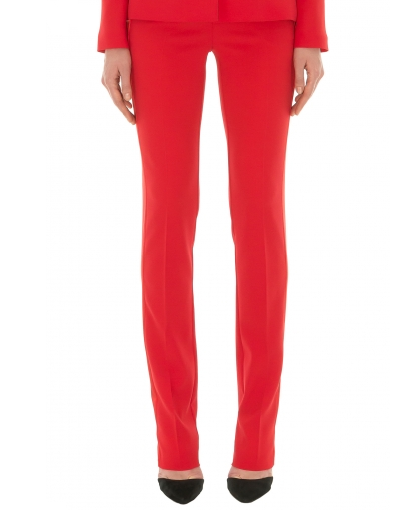 Stefanie Renoma-TUXEDO PANTS IN RED CREPE-Silkarmour-4
